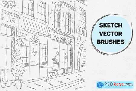 Vector sketch brushes illustrator 4441672