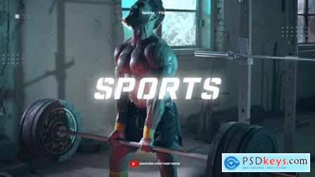 Sport Youtube Channel Opener Glitch Fitness and Workout 25227552