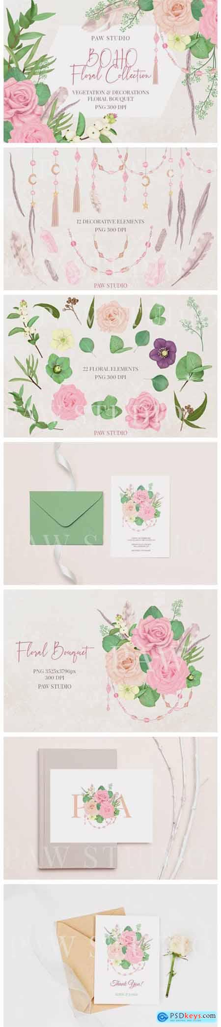 Boho Collection Floral Decorations 3038608