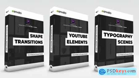 Typography Scenes, Lower Thirds, YouTube Kit and Shape Transitions 25558096