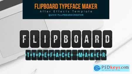 Flip board Typeface Maker 25894931