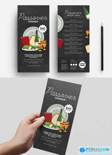 Passover Menu Layout with Food Illustrations 326497262