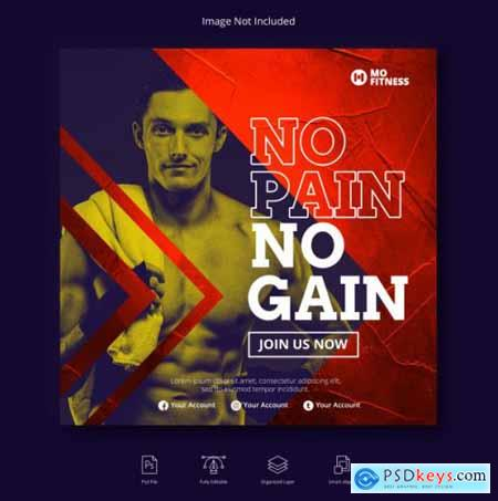 Sport instagram post social media banner