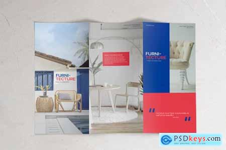 Trifold A4 Brochure Mockup - Set of 5
