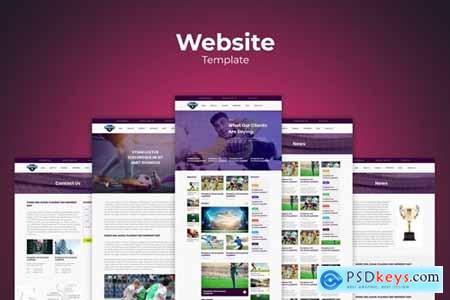 Football Soccer Website Templates