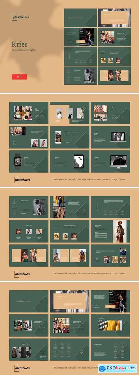 Kries - Fashion Powerpoint, Keynote and Google Slides Templates