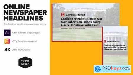 Online Newspaper Headlines Promo 25811789