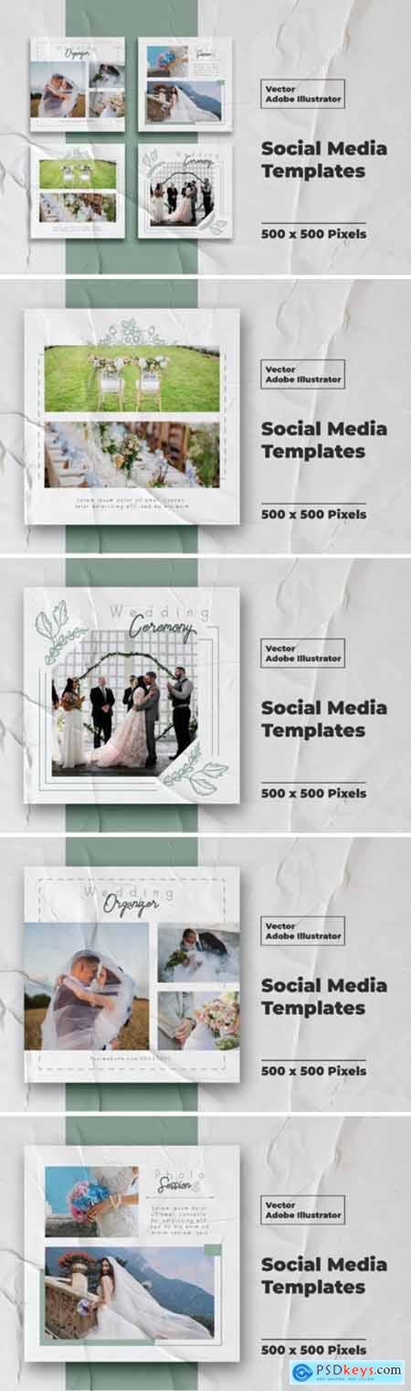 Wedding Instagram Feed Vector 3095613