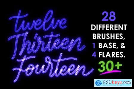30+ Procreate Neon Brushes 4613024