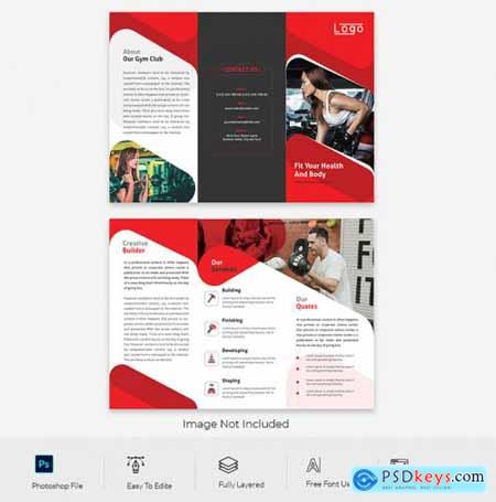 Abstract business trifold brochure design