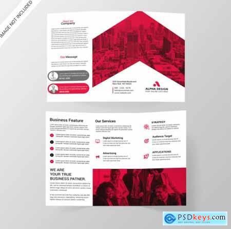 Corporate tri-fold brochure961