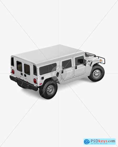 Off-Road SUV Mockup - Back Half Side 55296