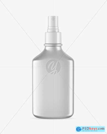 Metallic Spray Bottle Mockup 56244