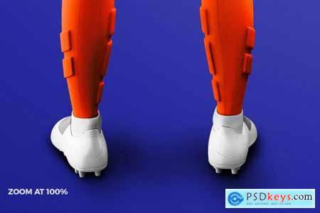 Womens Soccer Kit Mockup - Back 4584744