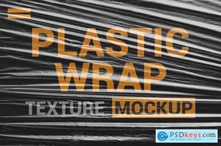 Stretch Plastic Texture Mock up
