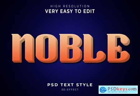 Noble amazing 3d text effect