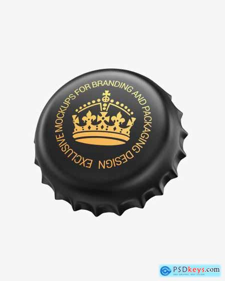 Matte Metallic Bottle Cap Mockup 56192