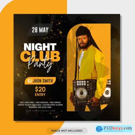 Dj party flyer template830
