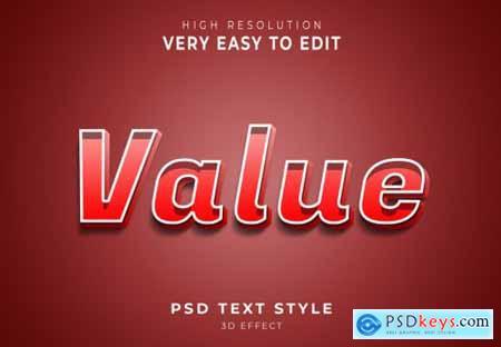 Value amazing 3d text effect