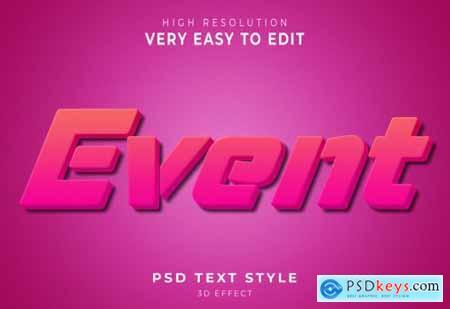 Event modern 3d text effect
