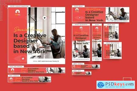 Fresh Business Startup Banners Ad PSD Template