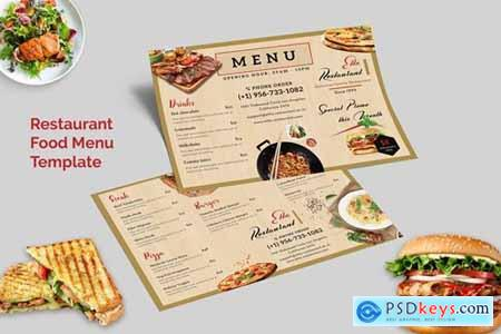 Restaurant Food Menu (Horizontal)