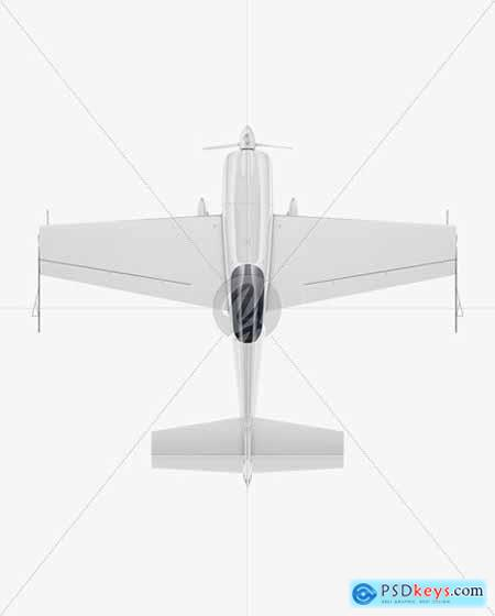 Sport Airplane Mockup - Top View 56259