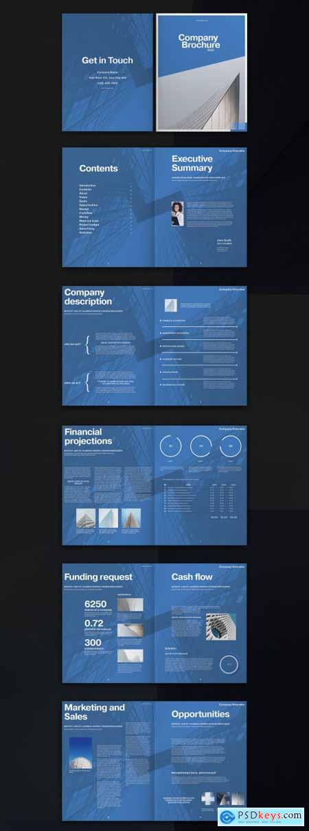Blue Brochure Layout 328155924