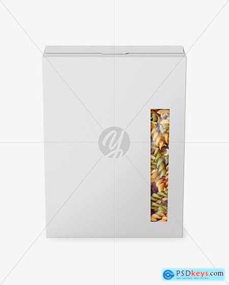 Paper Box with Tricolor Pasta Mockup 56462
