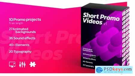 Short Promo Videos. Set v.1 Promo projects Sound FX Typography 25854519