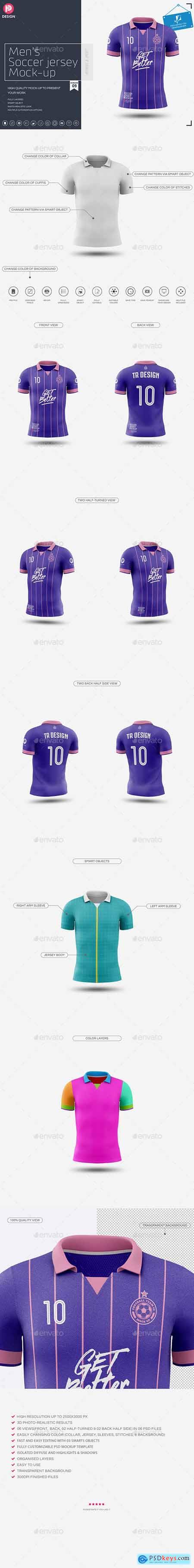 Men's Soccer Jersey Mockup V9 25799854