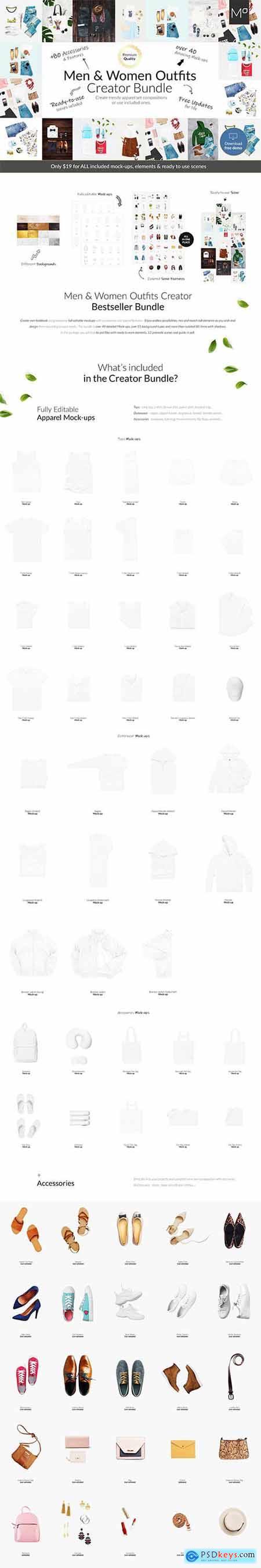Men & Women Outfit Creator Bundle 4519215