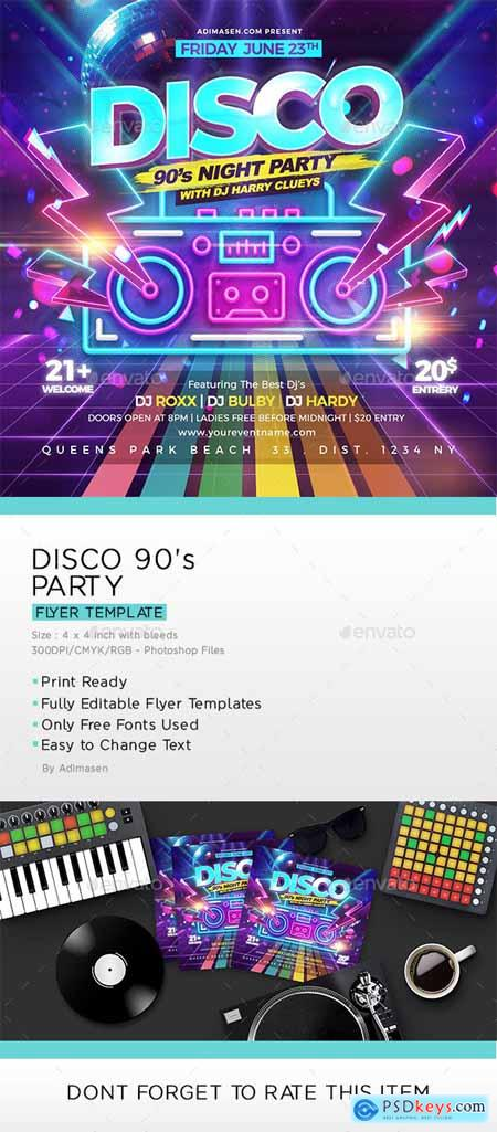 Disco 90's Party Flyer 25584932