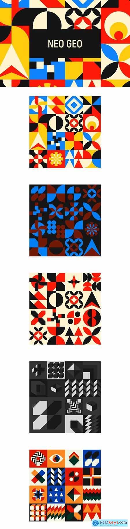 Seamless Geometric Patterns Vector 4617538
