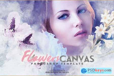 Flowers Canvas Photo Template 4604381