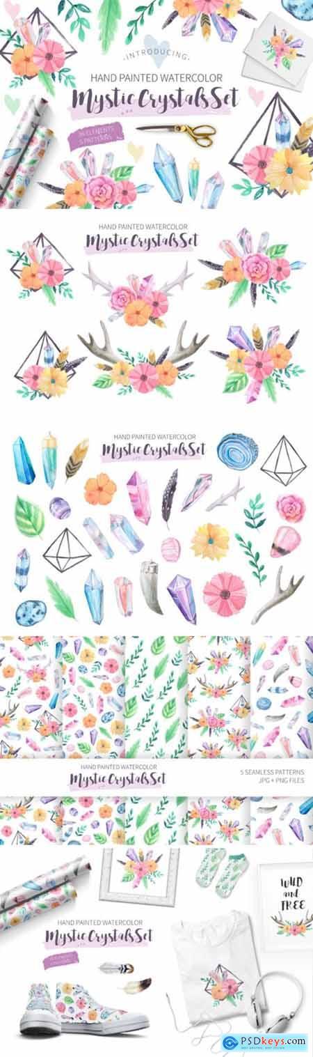 Watercolor Mystic Crystals Set 3515003