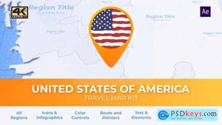 Travel Map USA United States of America 25922874