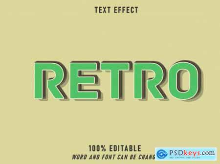 Retro green text effect retro style editable style vintage