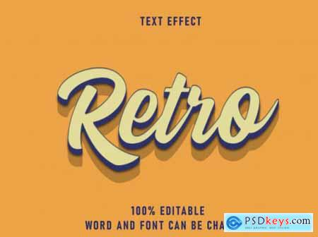 Retro text style effect editable font color solid best style vintage