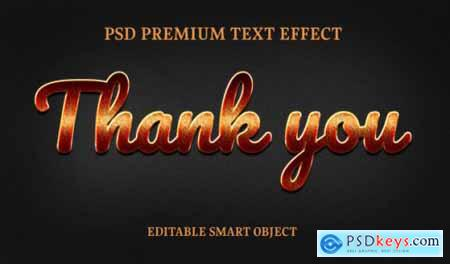 Thank you text effectportrait of beautiful woman