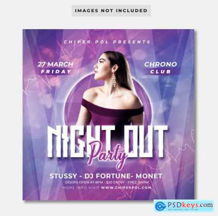 Night out party flyer