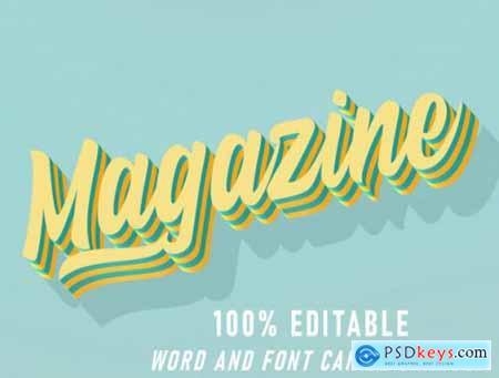 Magazine text effect retro style effect editable style vintage