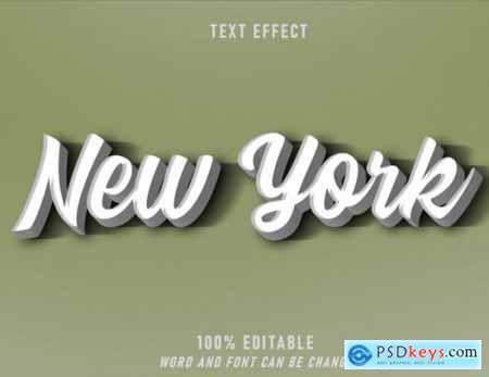 New york retro style effect editable style vintage