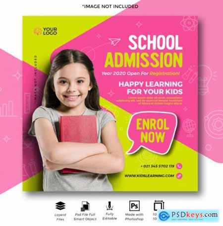 Beautiful educaitonal sale banner for digital media marketing