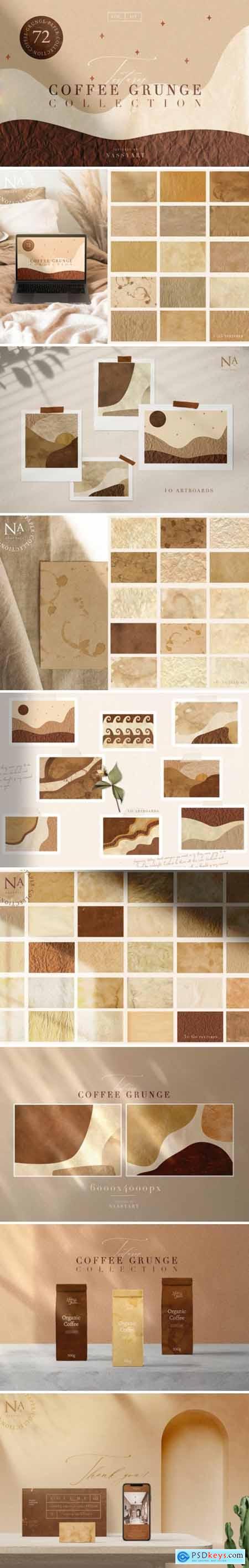72 Coffee Grunge Textures 3623705