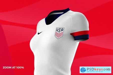 Womens Soccer Kit Mockup - Angle 4584749