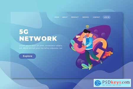 5G Network - PSD and AI Web Template