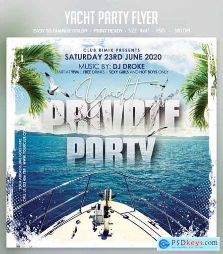 Yacht Party Flyer 25690779