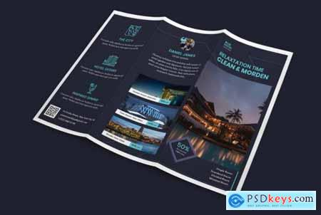 Hotel Trifold PSD Template