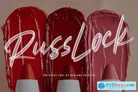 Russlock SVG Brush Font